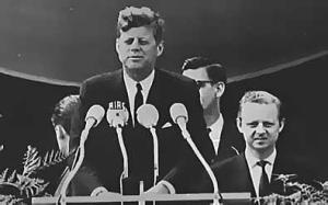 JFK at the Brandenburg gate
