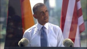 Obama at the Brandenburg gate