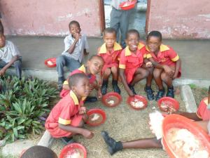 Lunch time at the school